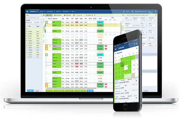 Flight Scheduling Software leon mobile