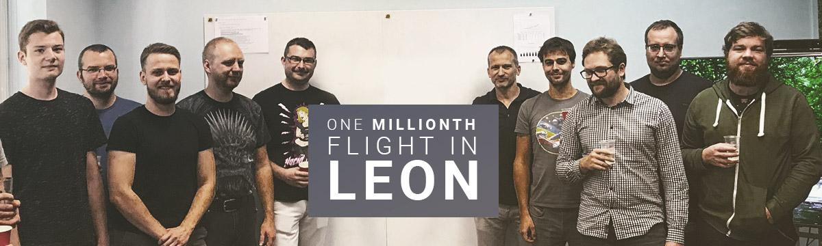 The one millionth flight in Leon